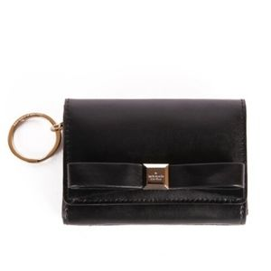 NWT Kate Spade Darla Black Mini Keyring Wallet